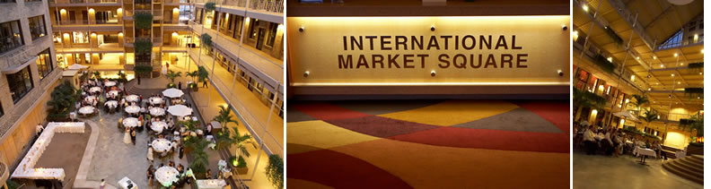 International Market Square. | wedding site
